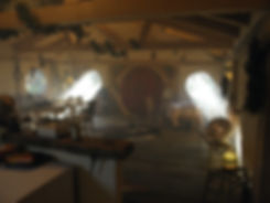 Tisanerie dans maison hobbit