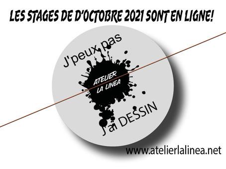 LES STAGES DE D'OCTOBRE 2021 SONT ARRIVES!