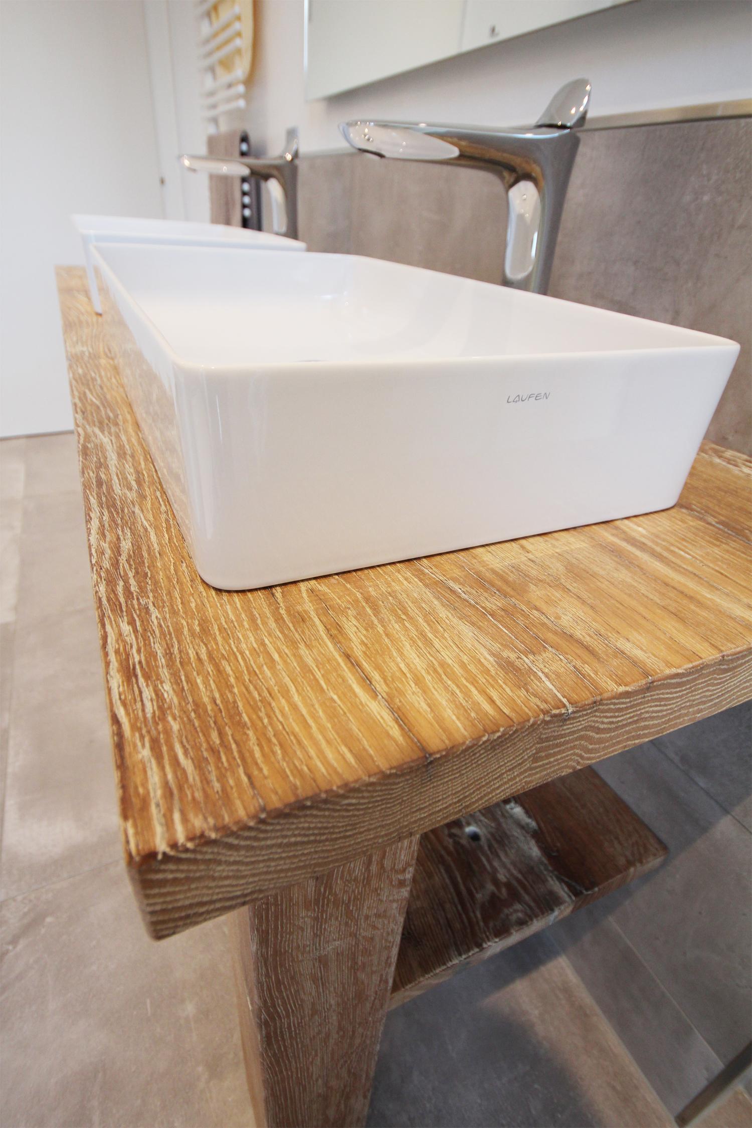 Waschtisch weiss Altholzdesign