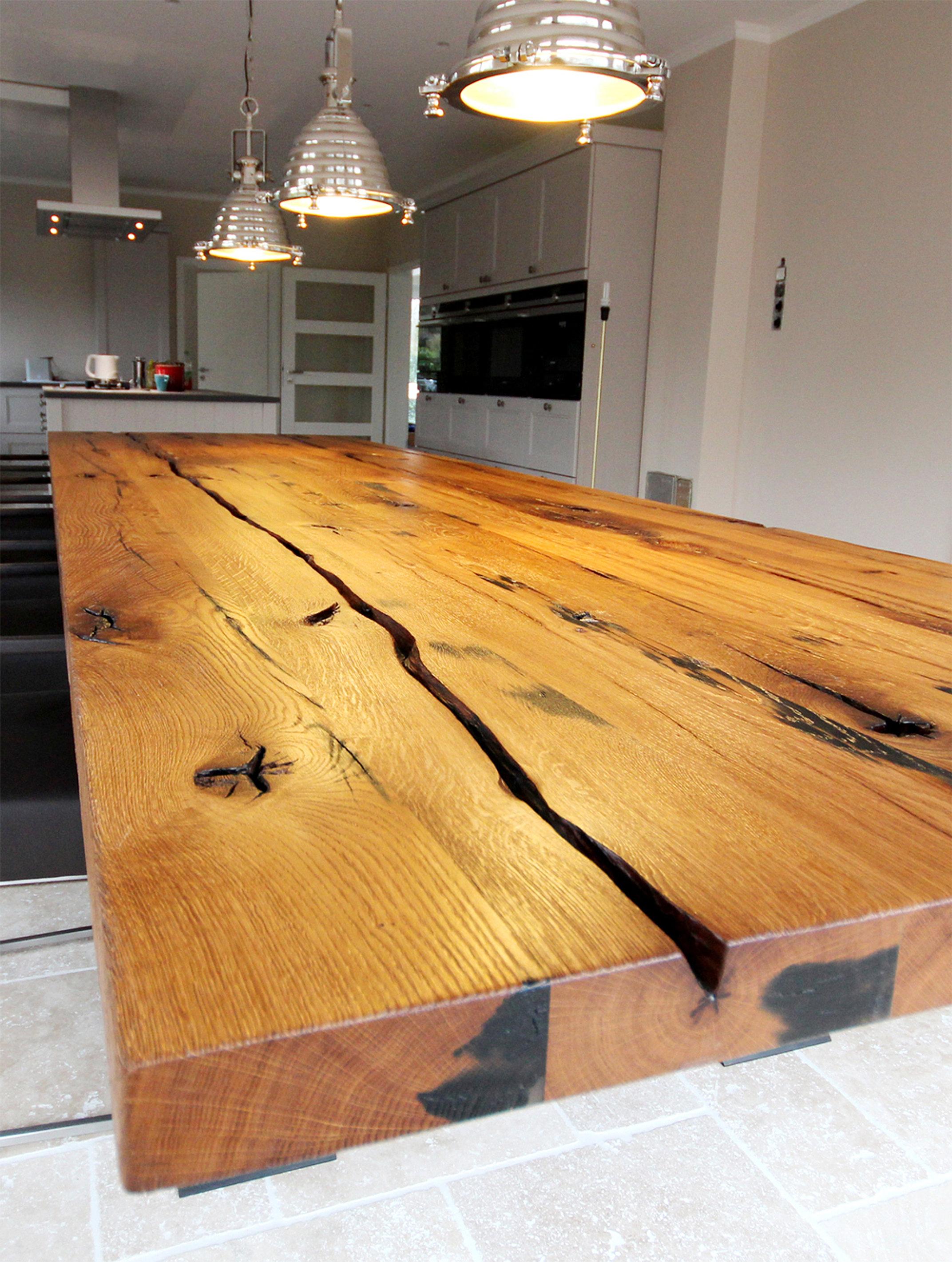 Holzplusart interiordesignwerkstatt altholzdesign for Langer esstisch