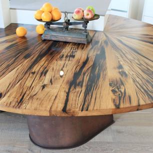 Tisch Rund Altholz Design