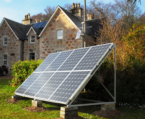 Solar panels at Culgower House