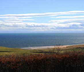 Looking towards the Moray coast from the house