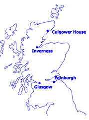 Culgower House map