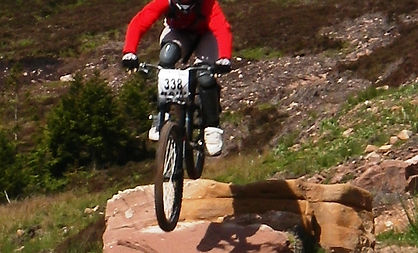 Mountain biker on Wildcat trails at Golspie