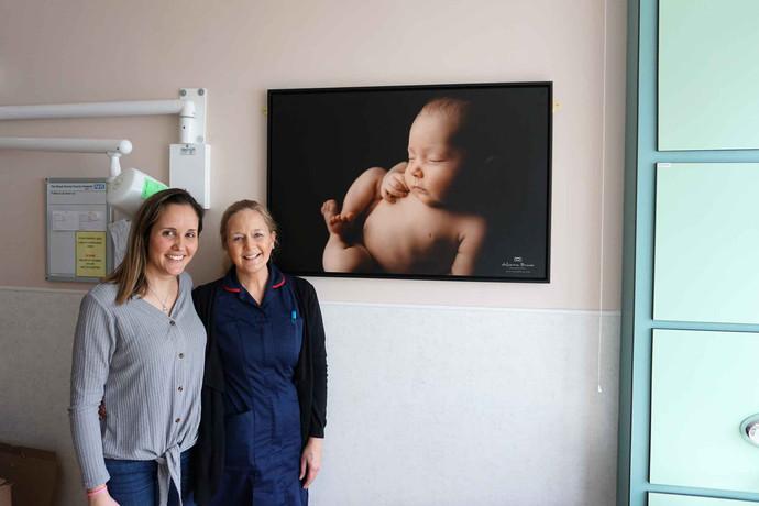 Oxytocin, Newborn Photography, and the Royal Surrey Maternity Unit.