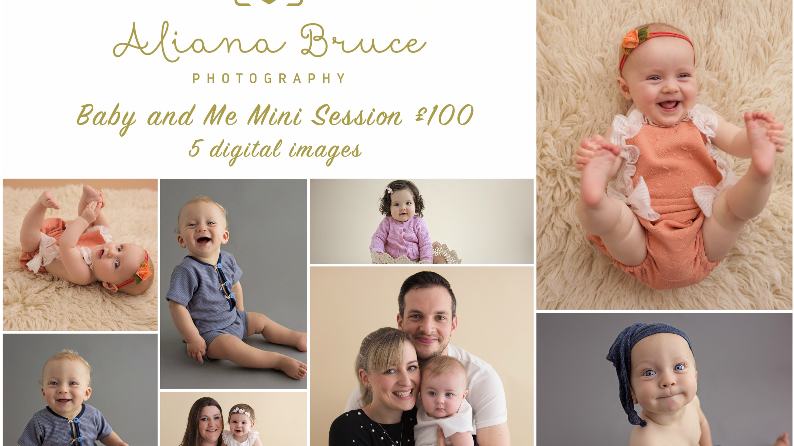 Baby and me Mini session Collage