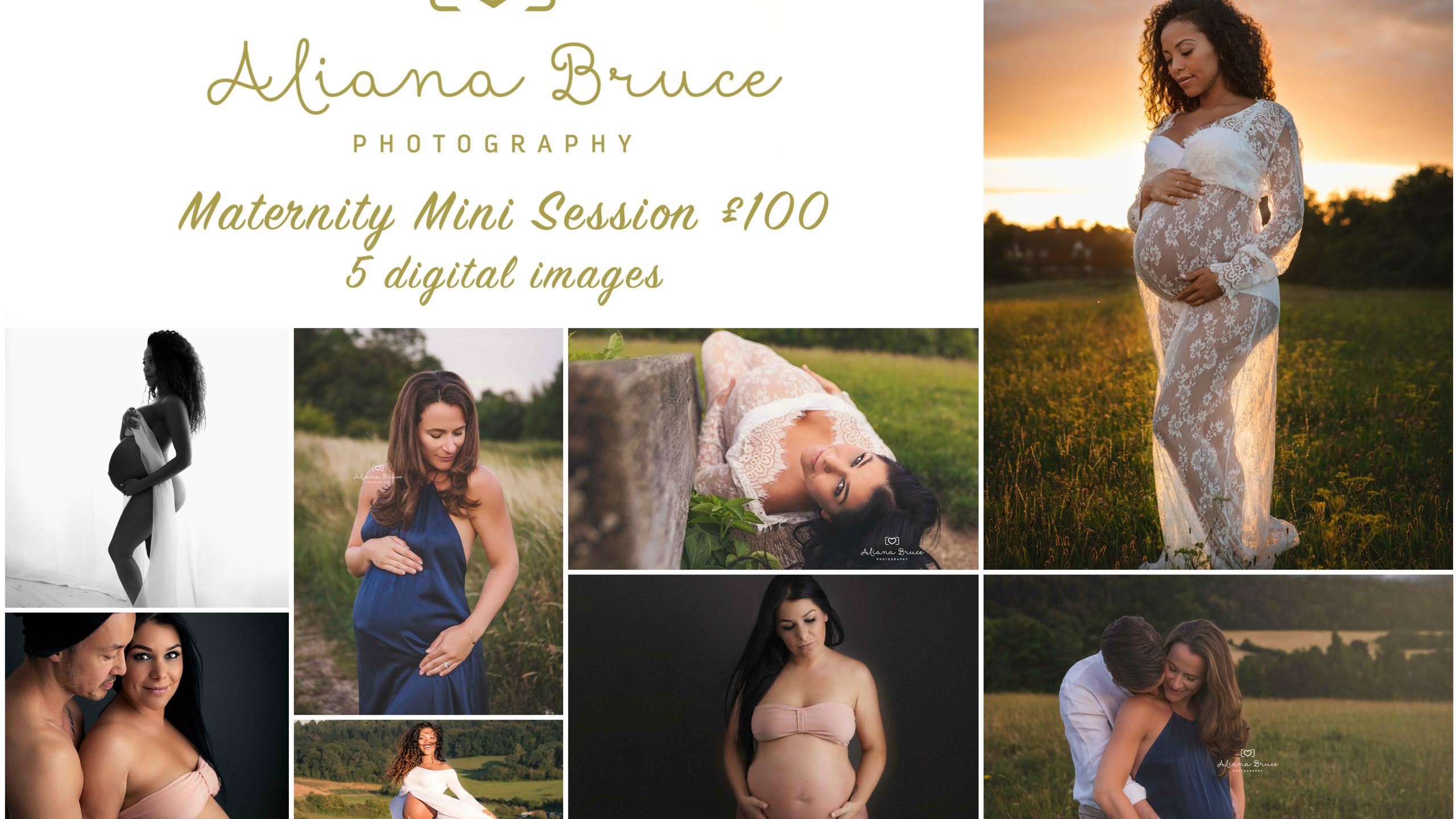 Maternity Mini Session Collage