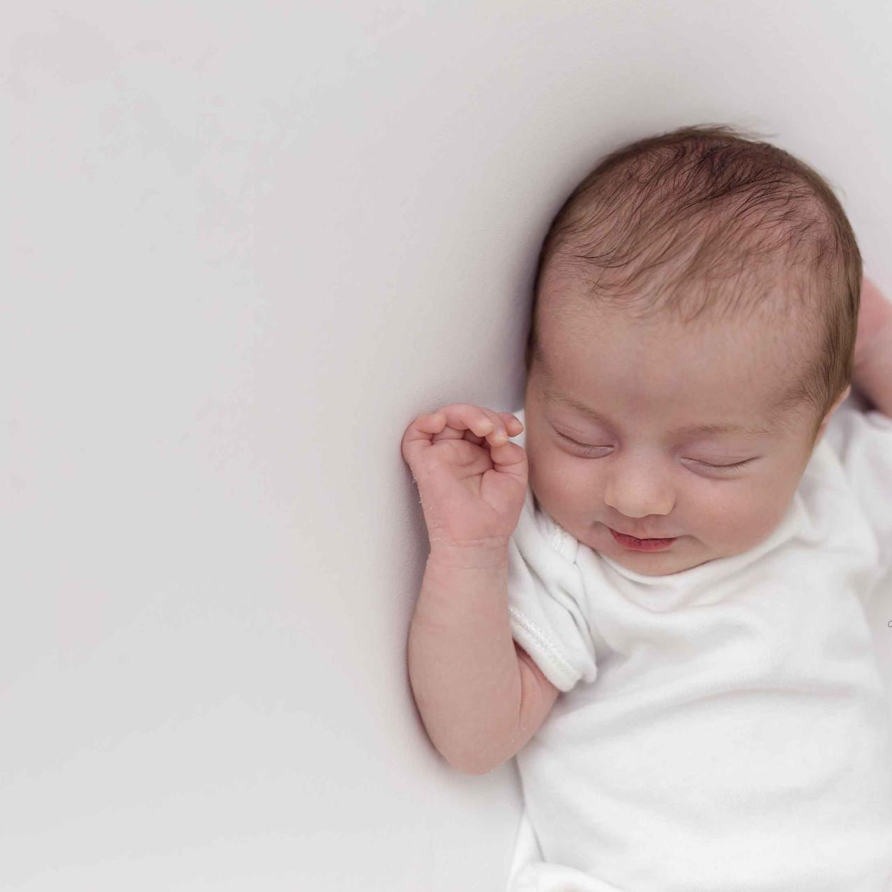 Newborn in white