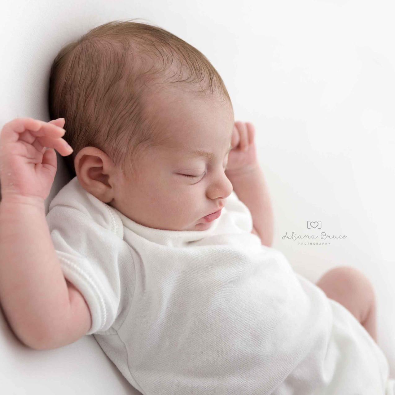Newborn photo white