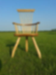 green wood chair
