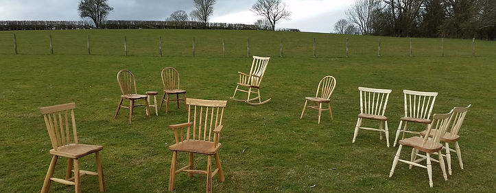 Chairs, English, windsor, bowback, greenwood