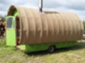 tinny homes, wagon.