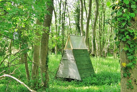 Folding woodland compost toilet