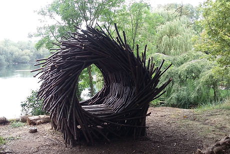 meditation nest, twig sculpture.