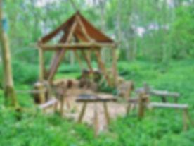 Round wood framing