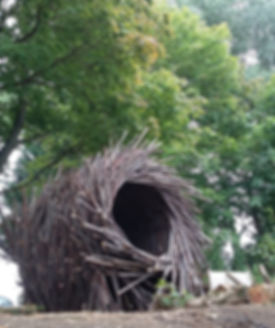 bird nest sculpture