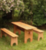 oak picnic table and bench