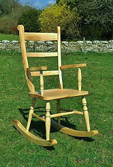 Double comb back chair