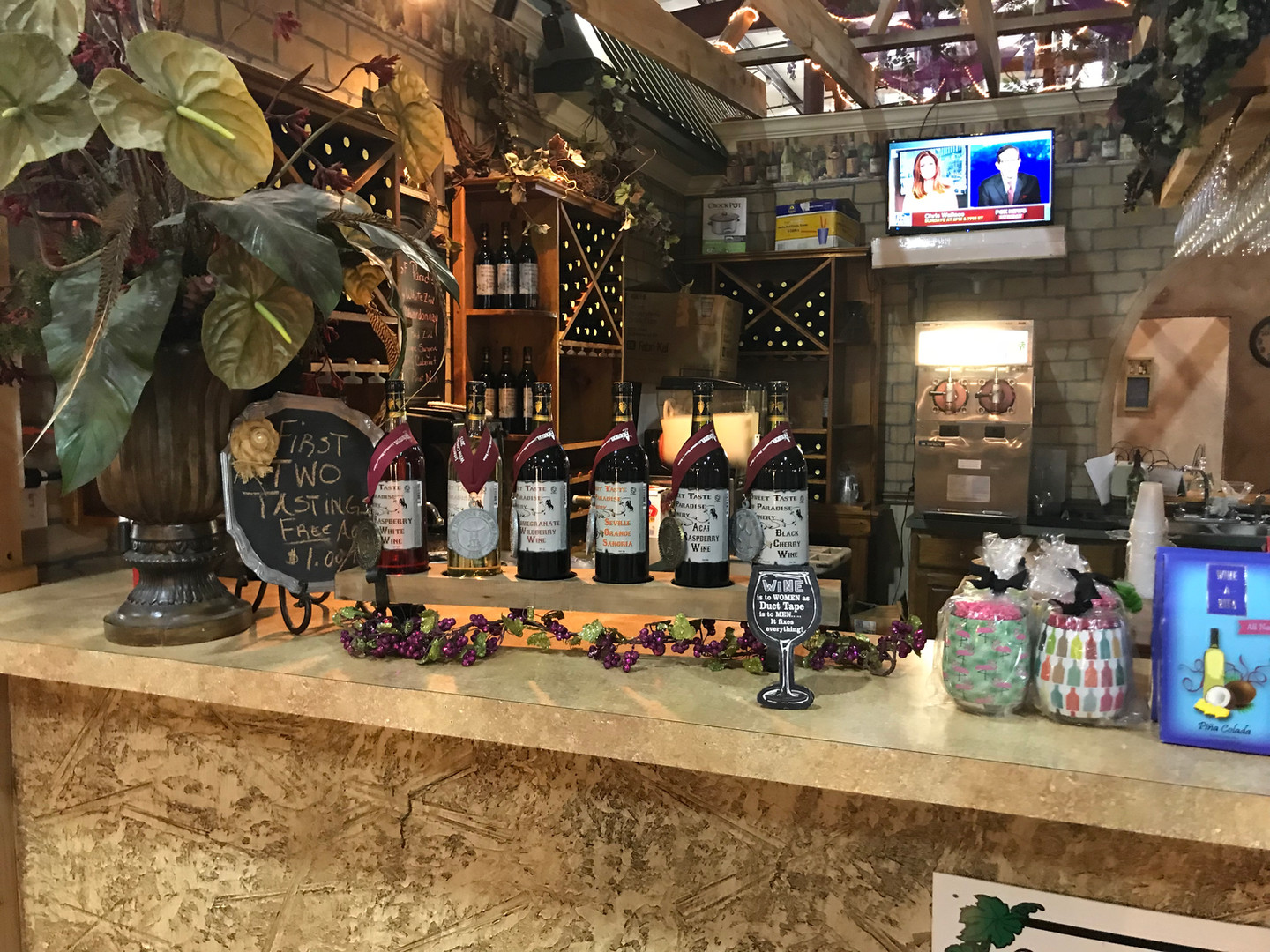 Sweet Taste of Winery Display