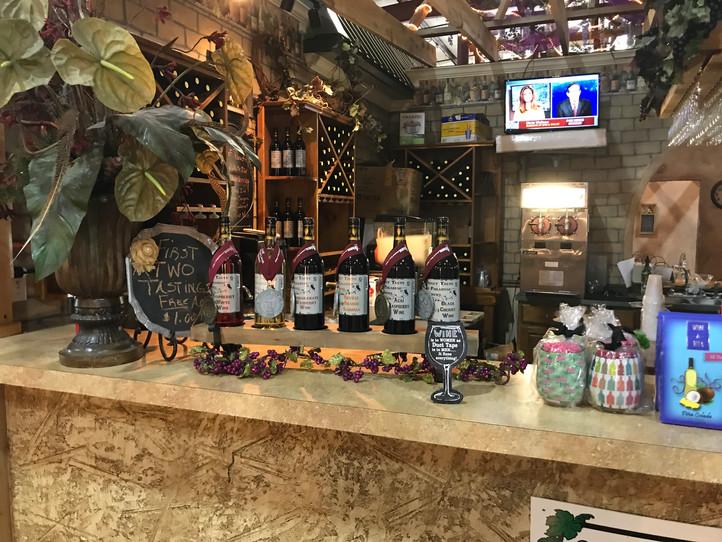 Sweet Taste of Winery Display