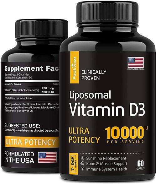 Vitamin D3 with 10000 IU