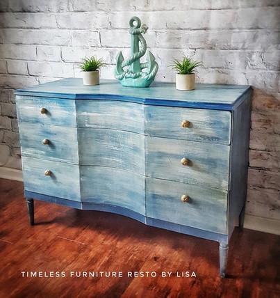 Gentle Waves, the Antique Dresser