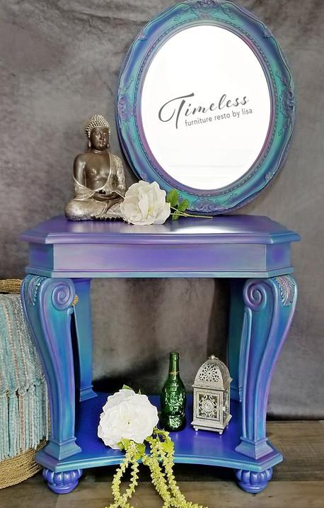 Iris, Mystic Topaz Inspired Table