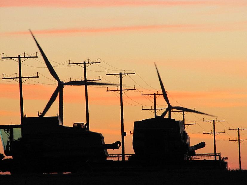 Combines & Wind Turbine.JPG