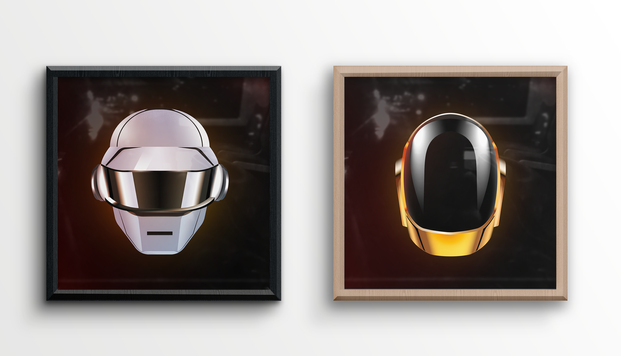 Cadre double illustration Daft Punk