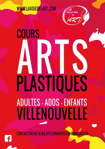 Affiche et flyers cours Arts-plastiques