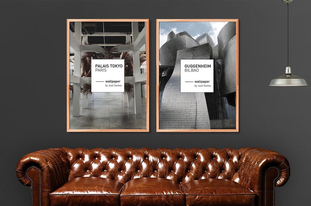 """Serie de posters """"les grands Musées""""."""