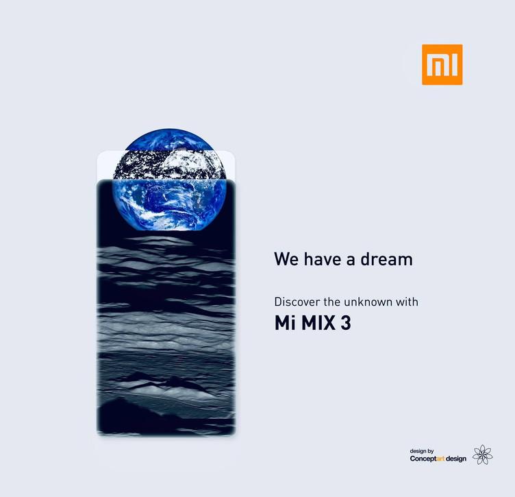 Publicité Xiaomi Mi Mix 3