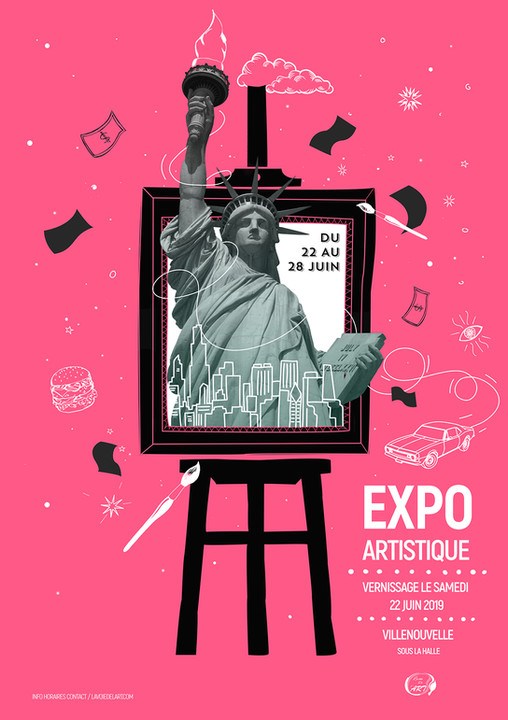 affiche exposition USA