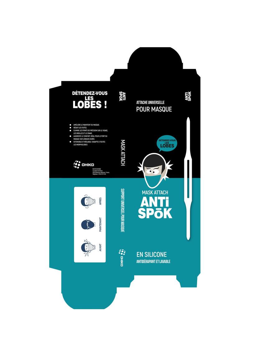 Boite packaging attache ANTISKOP