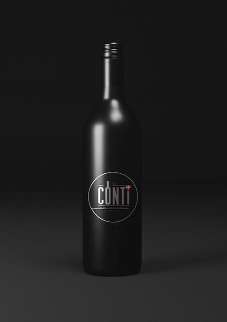 bouteille de vin noire le Conti Cahors