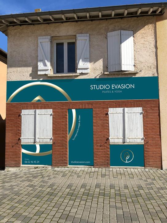 Façade enseigne Studio Evasion