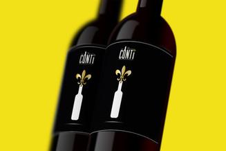 Etiquette vin Le conti.