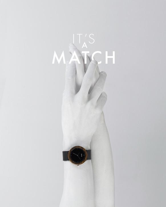 Publicité montres Match.