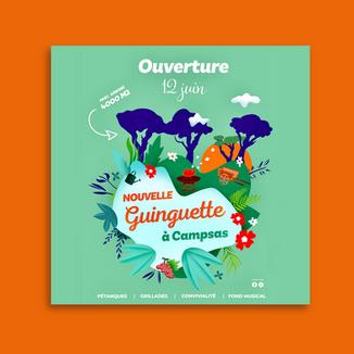 Flyer illustration ouverture guinguette