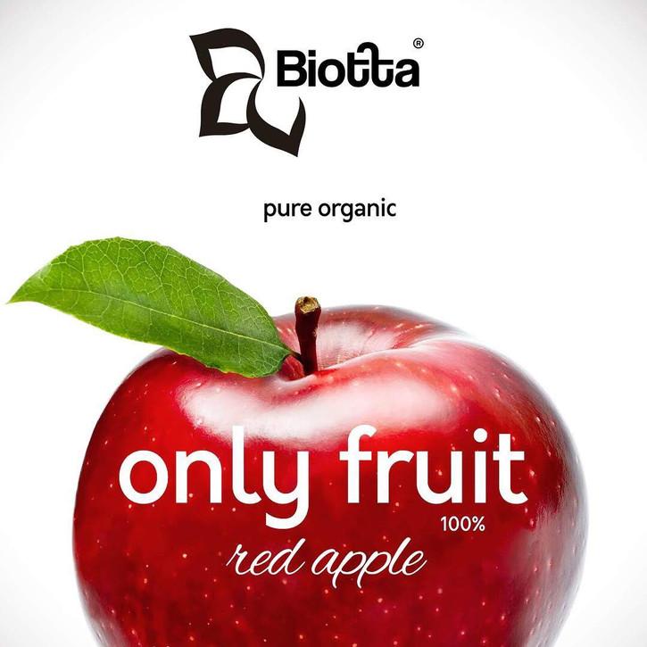 Affiche pub jus de pomme Bio.