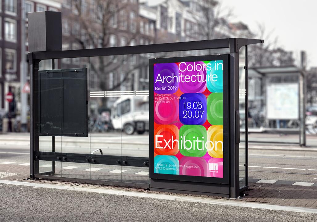Affiche abribus Berlin Architecture 2019