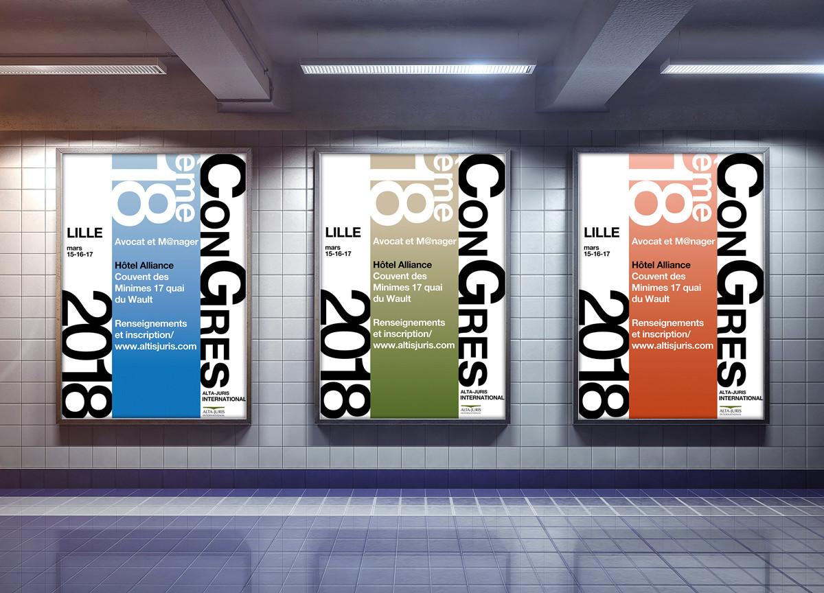 Triptique metro congrés annuel.