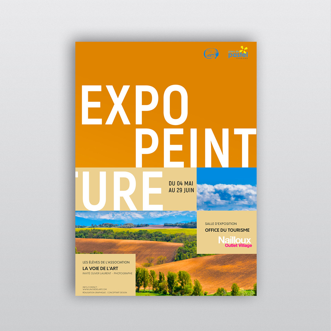 Poster affiche exposition de peinture