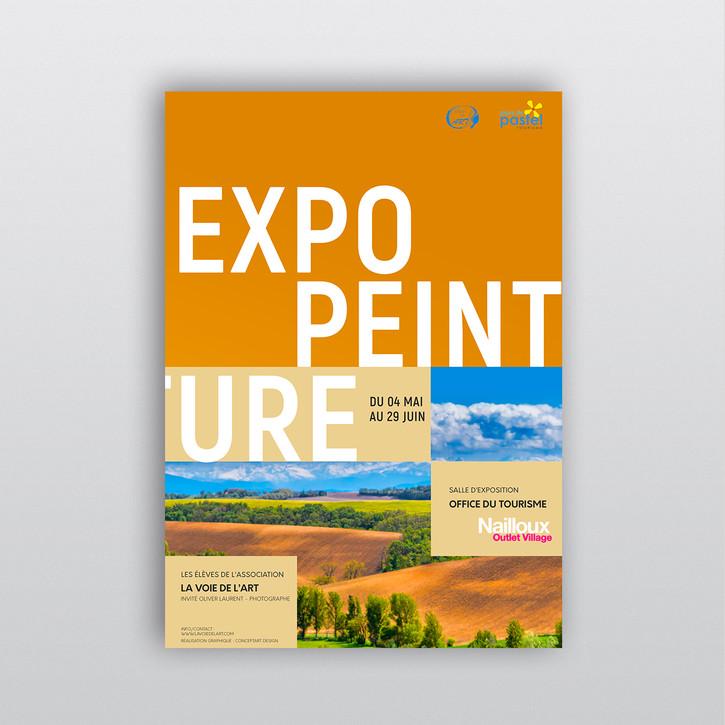 Poster affiche exposition peinture