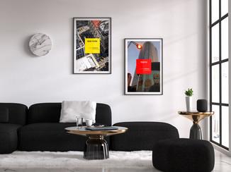"""Serie de posters """"les grandes villes""""."""