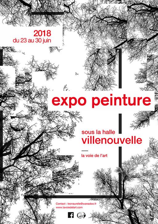 affiche exposition de peinture