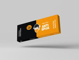 Packaging attache pour masque ANTISPOK