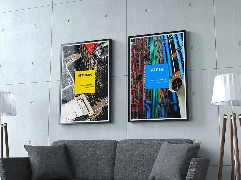 """Serie de posters """"les villes""""."""