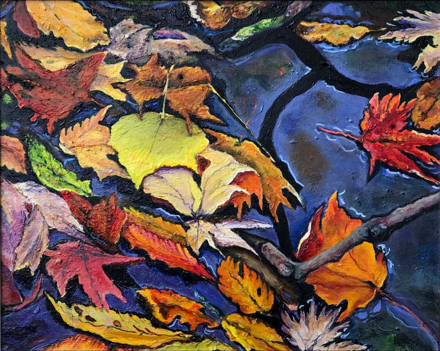 "Autumn Reflections, 22"" x 26"""